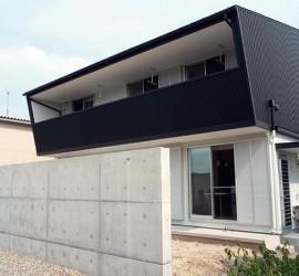 施工写真_一般住宅-S邸-白と黒の家-外観