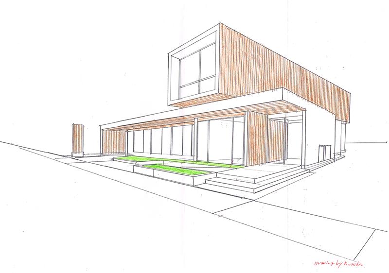 現在建築計画中-T歯科医院 建築パース