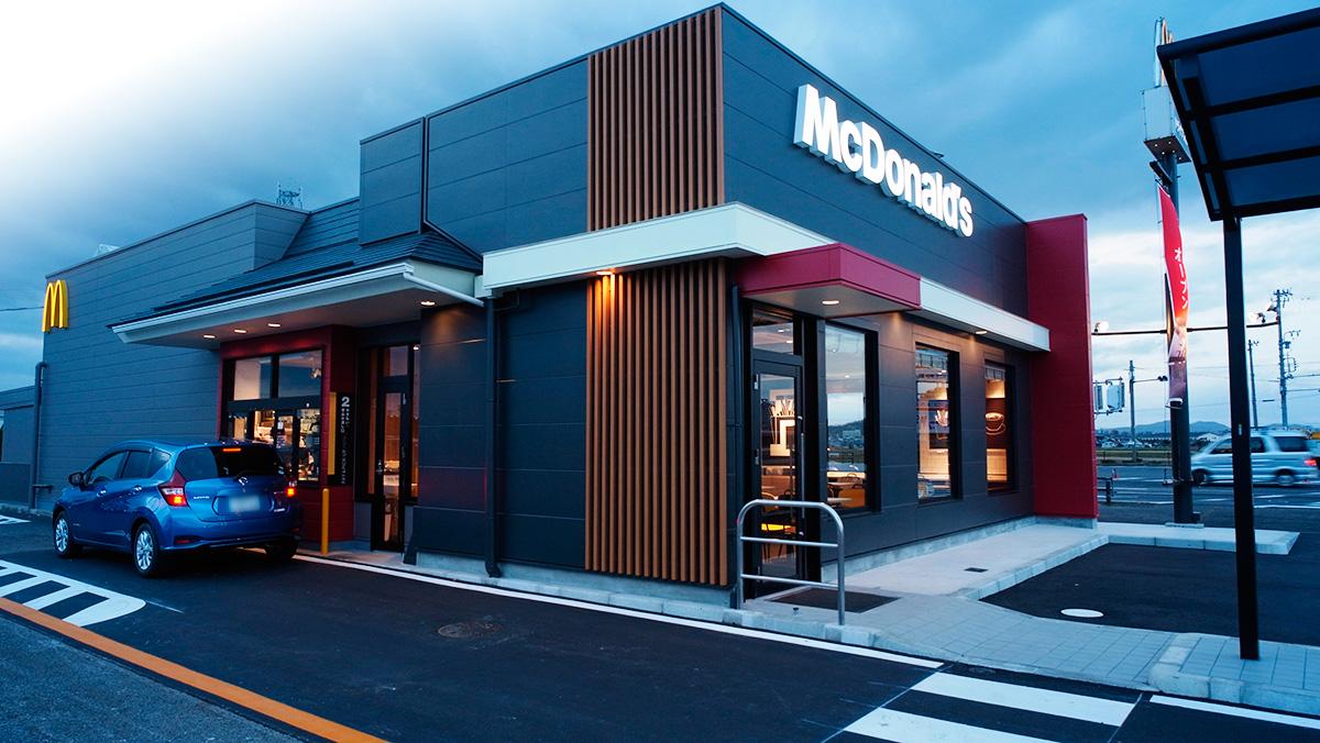 マクドナルド41号犬山エッソ店-増築リニューアル工事-外観-改装後